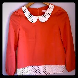 Pink and Polka Dot fashion top